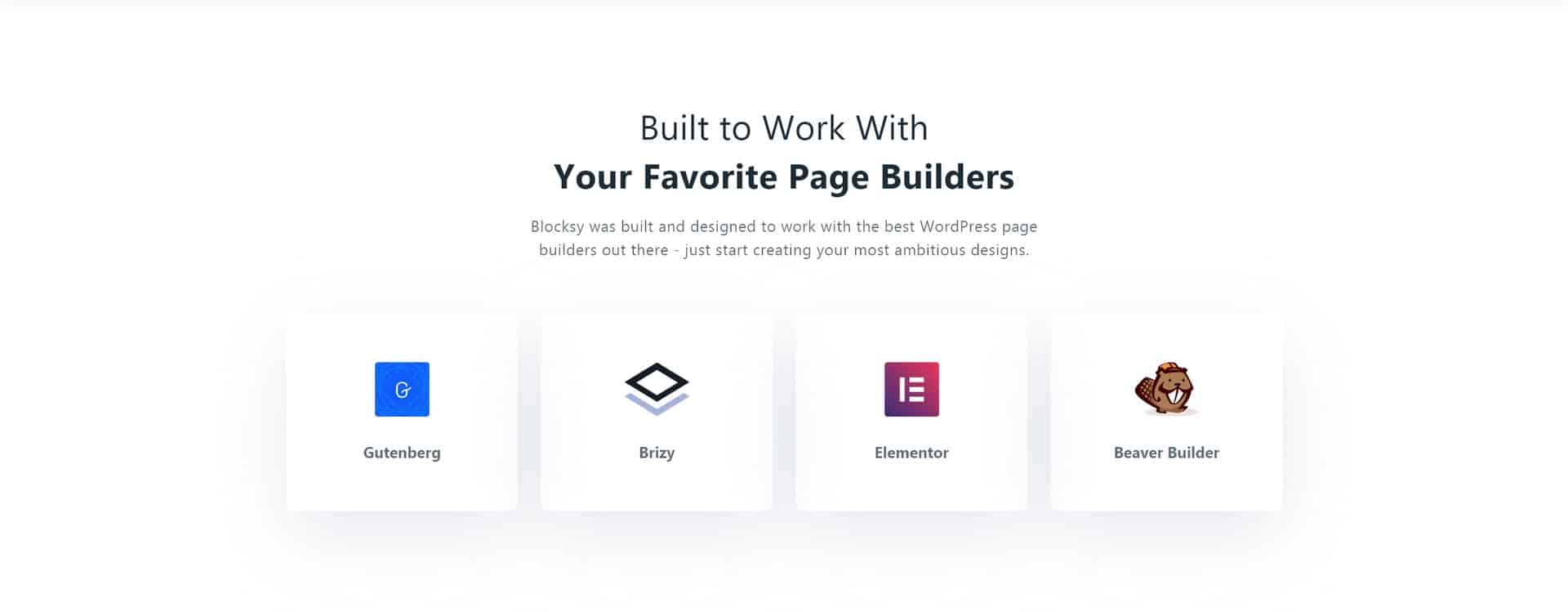 Blocksy - Built to Work With Your Favorite Page Builders